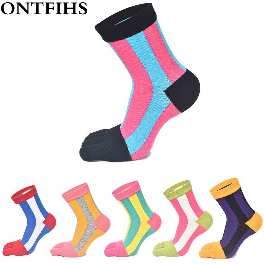 ⑧3 par/lote mujeres Calcetines algodón cinco dedo del pie deportes ...