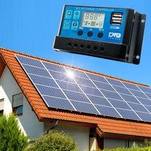 Бесплатная доставка 30A Панели солнечные Батарея регулятор заряда аккумулятора Dual USB 12/24V ЖК-дисплей Новый Прямая поставка LS'D инструмент