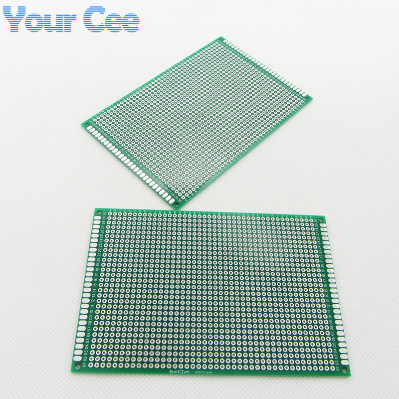 Image 3 - 10 pcs 8X12cm 8*12cm Double Side Prototype pcb Breadboard Universal Printed Circuit Board for Arduino 1.6mm 2.54mm Glass Fiberpcb cloningpcb boradboard hdmi -