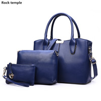3pcs Set Women Casual Leather Top Handle Handbag Tassel Shoulder Bag Ladies Messenger Crossbody Bag Composite