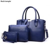 3pcs Set Women Casual Leather Top Handle Handbag Tassel Shoulder Bag Ladies Messenger Crossbody Bag Composite