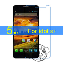 5pcs Ultra Clear LCD Screen Protector Film Cover For Alcatel one touch Idol X+ 6043D Protective Film  +  cloth