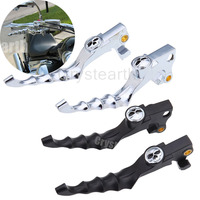 1 Pair Black Chrome Motorcycle Skull Zombie Brake Clutch Levers For Harley Sportster 2004 2013 2005