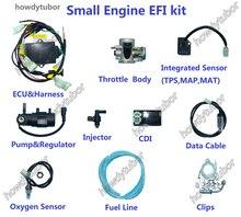 Kit de injeção de combustível eletrônico para motocicleta, moto, atv, scooter pit, bicicleta buggy uav moped efi, kit pequeno de injeção de combustível eletrônico gy6 para microsquirt