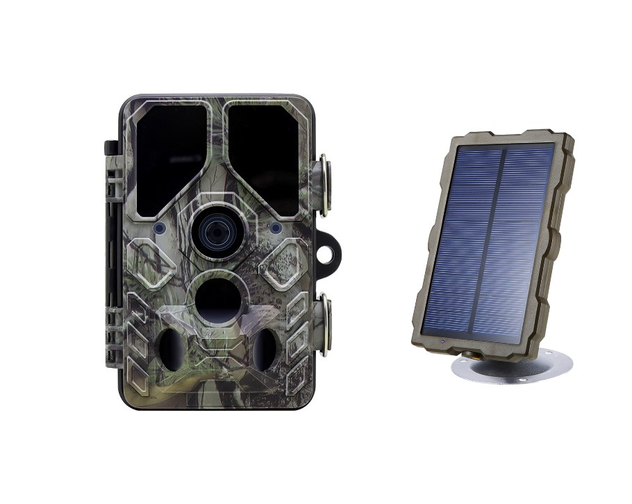 PDDHKK Hunting Camera 1080P HD Outdoor Trail Camera Photo Trap Scout Surveillance Camera Night Vision Waterproof Solar Power image