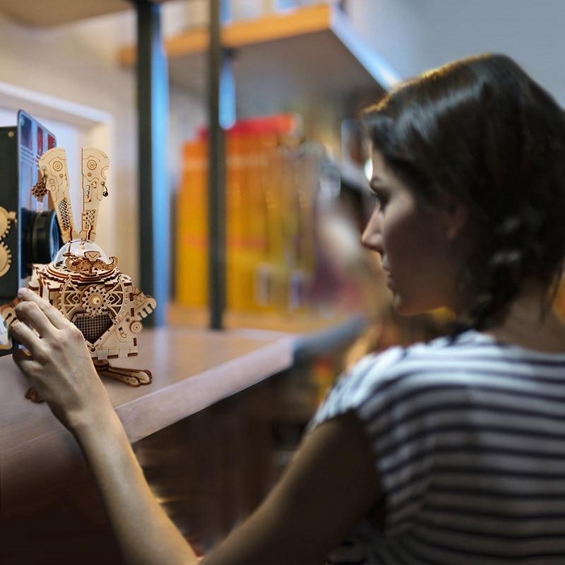 Robotime 3D Puzzle DIY Қозғалыс арқылы жиналған - Ойындар мен басқатырғыштар - фото 3