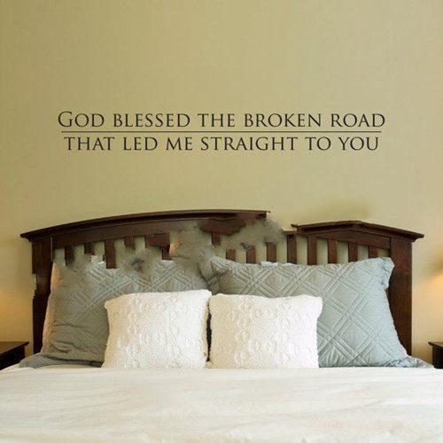 dios bendijo a dios me hizo a usted de vinilo pegatinas pared del dormitorio decoracin