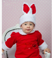 Free shipping  The new season children bunny Christmas hat + the dress or the skirt