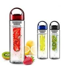 2015 NEW 700-800ml Sport Fruit Infusing Infuser Water Bottle with box Sports Health Lemon Juice Make Bottle