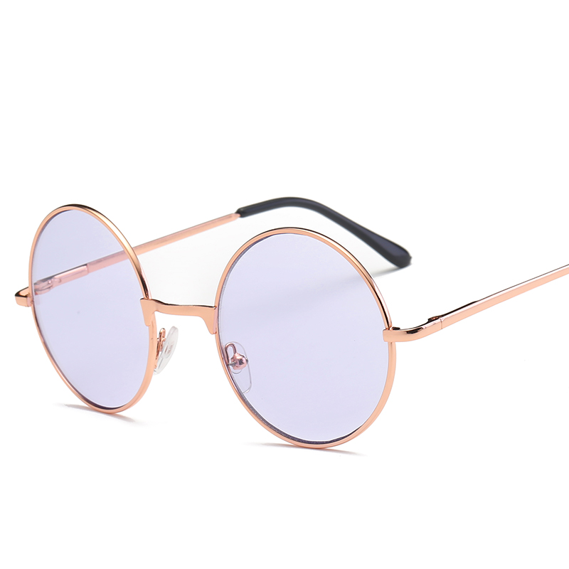ladies sunglases sunglass Retro Prince mirror ladies glasses color marine lenses sunglass Round fluorescent mirror
