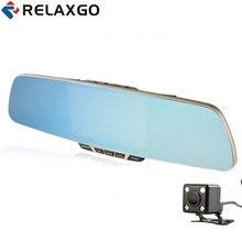 Buy Relaxgo 5″ Car DVR Full HD1080p Rearview Mirror Camera Dual Lens Car Camera Recorder Parking Night Vision Vehicle DVR Dash Cam