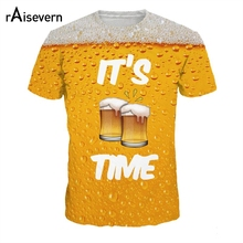 """It's Beer Time"" all-over-print girlie / women's shirt"