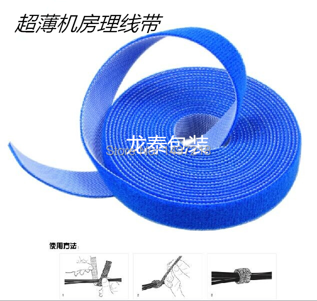d574cd5abc3c Freeshipping 1.2cm x 5m/roll ultra thin magic cable tie nylon strap Power  Wire Management Magic Tape Sticks Hook & Loop Tape