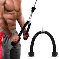 Tricep Rope Push Pull Down Cord For Bodybuilding Exercise Gym Workout for Home or Gym Use Fitness Exercise Body Equipment