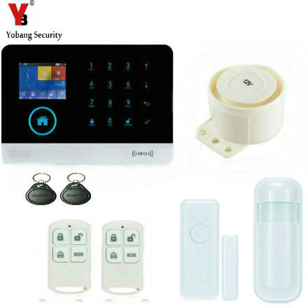 YobangSecurity Touch Screen Wireless Wifi 3G Sim Auto Dial Home House Office Security Burglar Intruder Alarm System RFID Keyfobs wireless smoke fire detector for wireless for touch keypad panel wifi gsm home security burglar voice alarm system