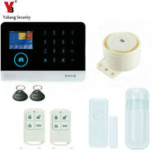 YobangSecurity Touch Screen Wireless Wifi 3G Sim Auto Dial Home House Office Security Burglar Intruder Alarm System RFID Keyfobs