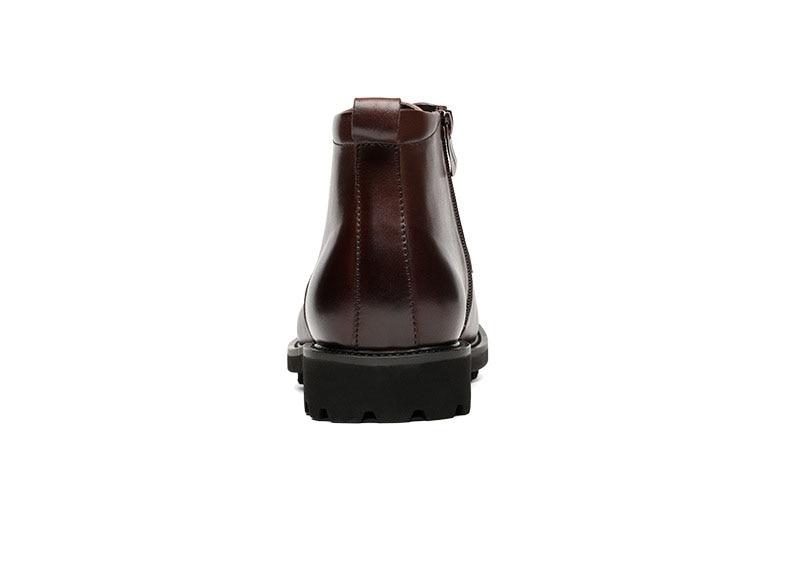 Zapatos Encaje marrón Genuino Hombre Negro Moda Qyfcioufu Invierno Tobillo hombre De Diseñador Cuero Botas Chelsea Nuevos 2019 Hombres nRq7wvpRT