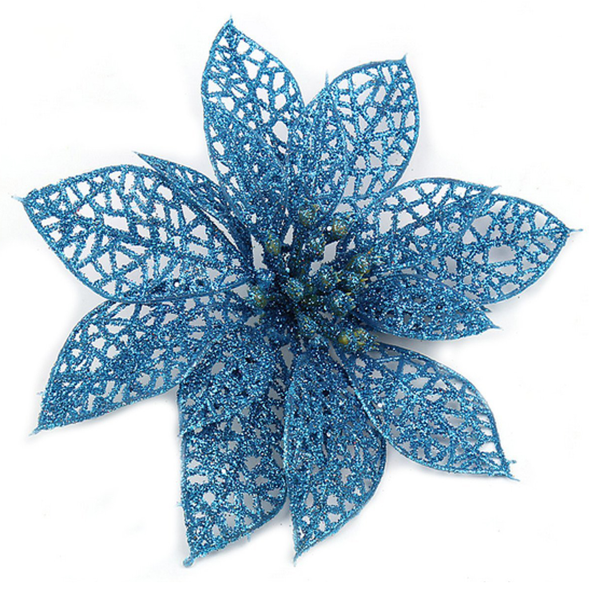 SDFC-Decoration for Christmas Tree - elegant 13cm Sequin Flowers Suspended with Christmas tree - indispensable decorations de