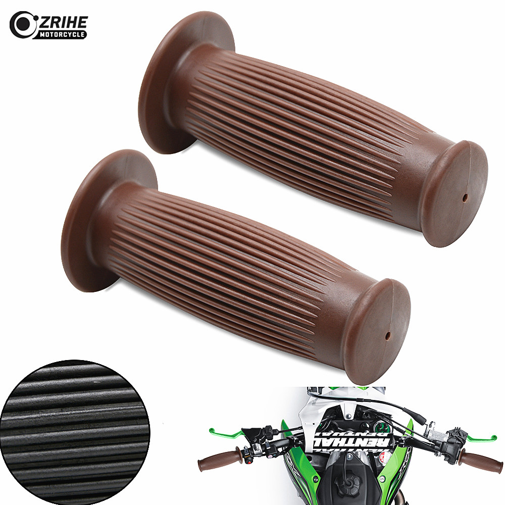 22/24mm Motorcycle Handle Grip Cafe Racer Hand Grips for Ducati Scrambler 900 SS Regolarita Strada 800 classic CG125 GN 125 250