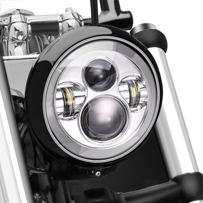 7 Inch LED Projector Daymaker Hi Lo Beam Headlight for Harley Davidson Motorcycle