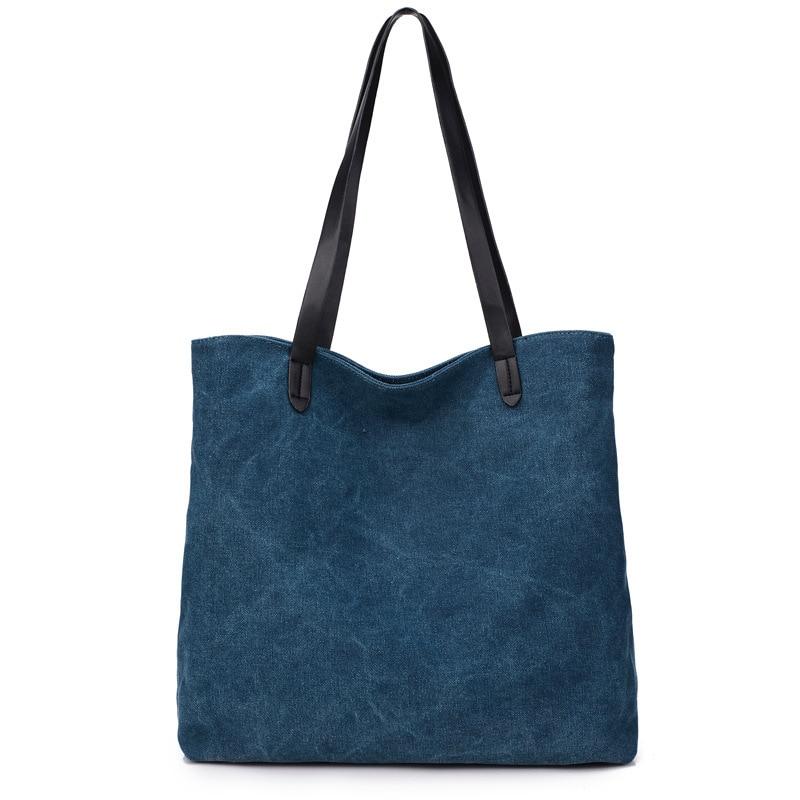 ФОТО Fashion simple canvas bag shoulder bag large capacity lash bag portable handbag clutch