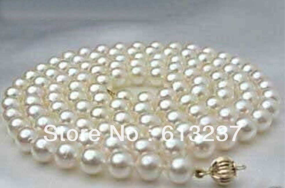"Real 8-9 mm Naturel Rose d/'eau douce collier de perles 18/""AAA"