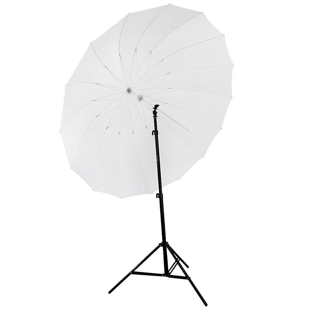 72/185cm White Diffusion Parabolic Umbrella 16 Fiberglass Rib 7mm Shaft, includes Portable Carrying Bag rib knit tights