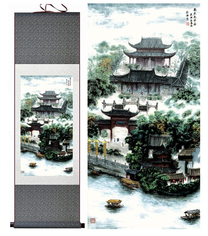 landscape painting Home Office Decoration Chinese scroll pai