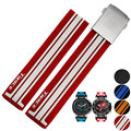 21mm (Buckle 20mm) MAN NEW Top Grade Black/Red/Blue/Orange Diving Silicone Rubber Watch BANDS Strap FOR T048 watch
