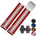 21mm (buckle 20mm) novo homem top grade preto/red/blue/orange silicone mergulho cinta faixas de relógio de borracha para relógio t048