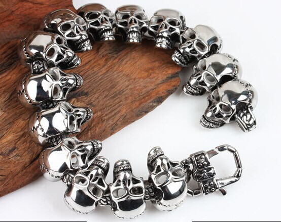 316l Stainless Steel Skull Bracelet Retro Personality Men Jewelry Kl In Charm Bracelets From Accessories On Aliexpress Alibaba Group