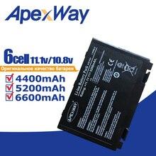 ApexWay Batería de portátil de 11,1 V para Asus a32 f82, a32, f82, F52, k50ij, k50, K51, k50ab, k40in, k50id, k50ij, K40, k50in, k60, k61 y k70