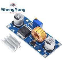 1 pces 5a xl4015 DC DC 4 38v a 1.25 36v 24v 12v 9v 5v step down ajustável módulo de fonte de alimentação led carregador de lítio com dissipador de calor