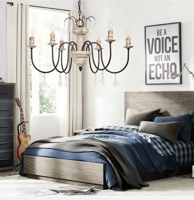 Phube Lighting Retro Chandeliers Wooden Chandelier Light Children S Room Bedroom Princess Home