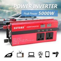 5000W Automobiles Inverter DC12/24V To AC110V/220V Solar Peak Power Inverter Convertor Voltage Transformer Sine Wave Converter