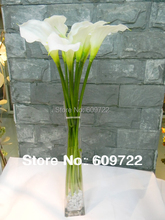 2014 New Style ! FREE SHIP High Simulation 54cm Real in Touch  White Pu Artificial Flower Lily Floral Arrangement FL176