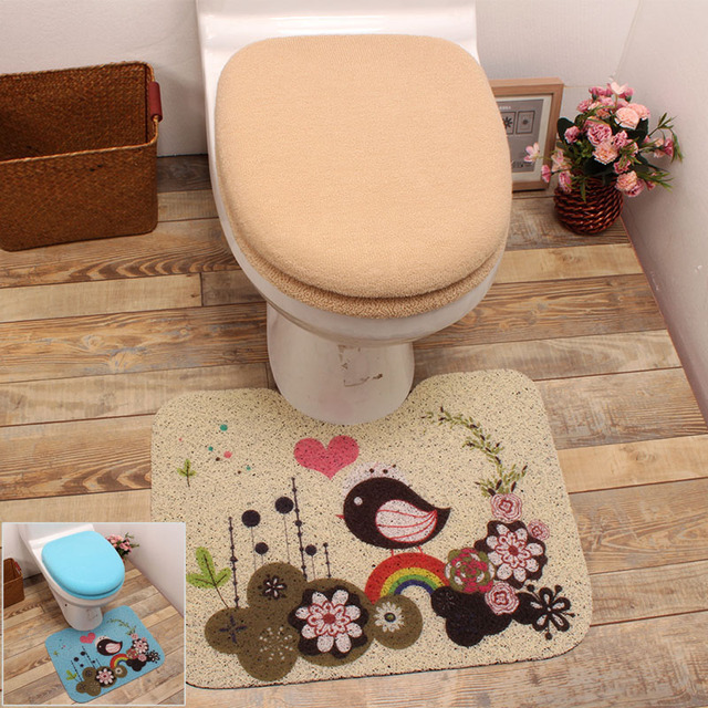 ultrafine fibre toilet three piece set toilet seat cover potty pad ...
