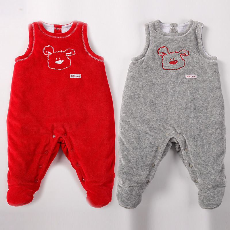 baby clothes pyjamas kids clothes baby rompers sleeveless thick warm baby boy clothes ba ...