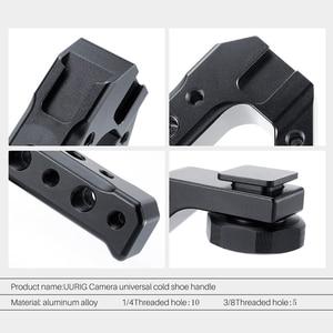 Image 5 - Aluminium DSLR Top Poignée Grip w 3 Froid Supports de Chaussures 1/4 3/8 pour Moniteur Microphone Vidéo Lumière à sony A6400 6300 Nikon Canon