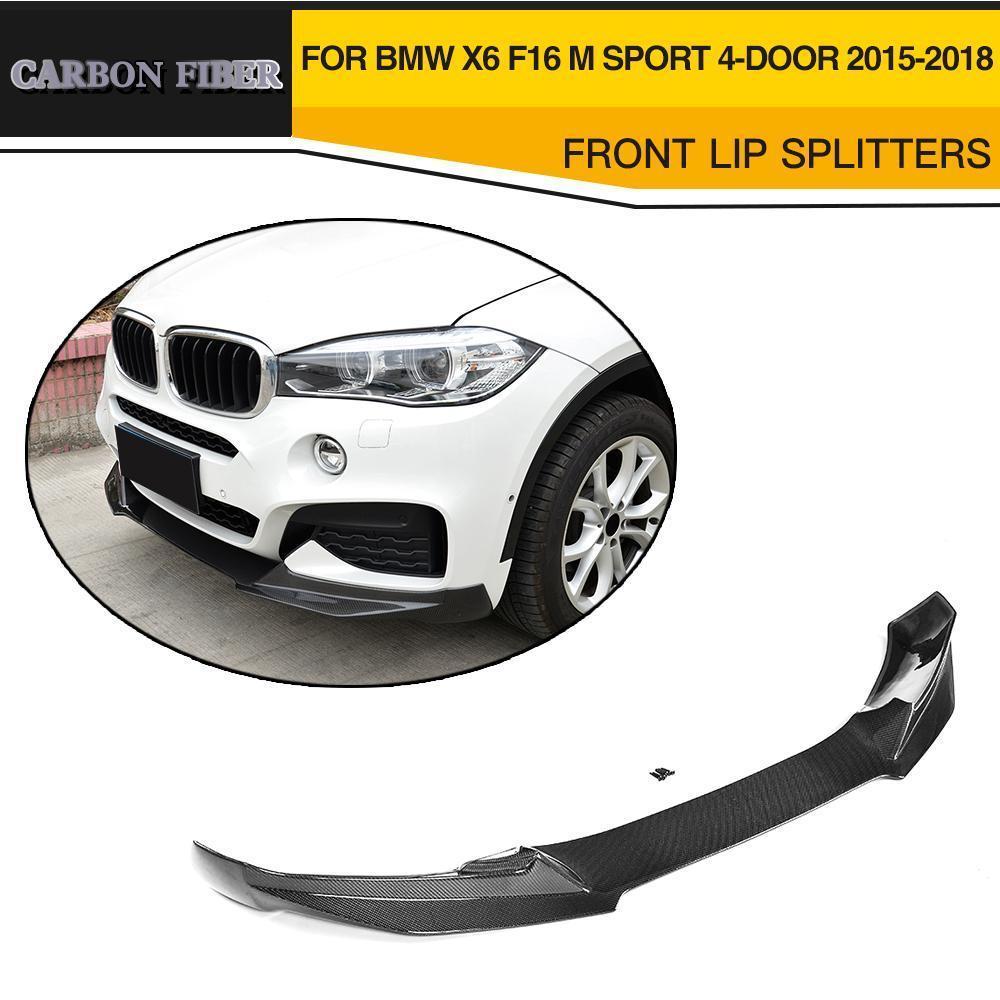 Auto Paraurti Anteriore Lip Spoiler Mento Protector In Fibra di Carbonio per BMW X6 F16 M Sport Paraurti 4 Porte 2015 2016 2017 2018 Anno