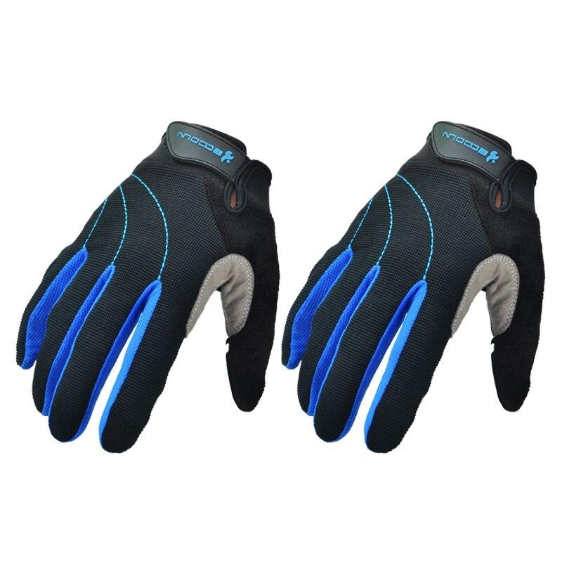 Велосипед перчатки Полный Finger долгая дорога горный велосипед Прихватки для мангала Велоспорт MTB перчатки для человека и Для женщин