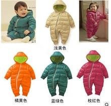 Haute Qualité Bébé Barboteuses D'hiver Épais Coton Garçons Costume Filles Vêtements Chauds Enfant Salopette Enfants Survêtement Bébé Porter 4 Couleurs