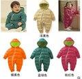 Meninos Traje de alta Qualidade Macacão de Bebê Inverno Algodão Grosso Meninas Quentes Roupas Miúdo Macacão Casacos Crianças Desgaste Do Bebê 4 Cores
