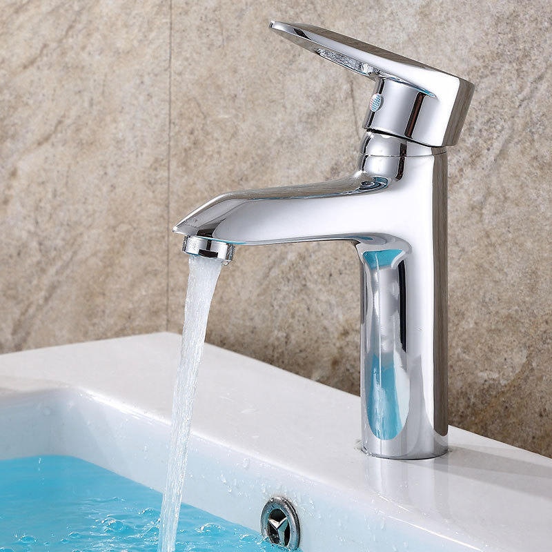 Hot and cold mixed water basin faucet copper diamonds single hole lift toilet bathroom faucet bathroom