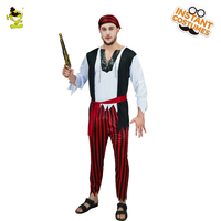 Hot Sale Men S Pirate Costume Fancy Dress Up New Pirate Clothes For Halloween Party Role