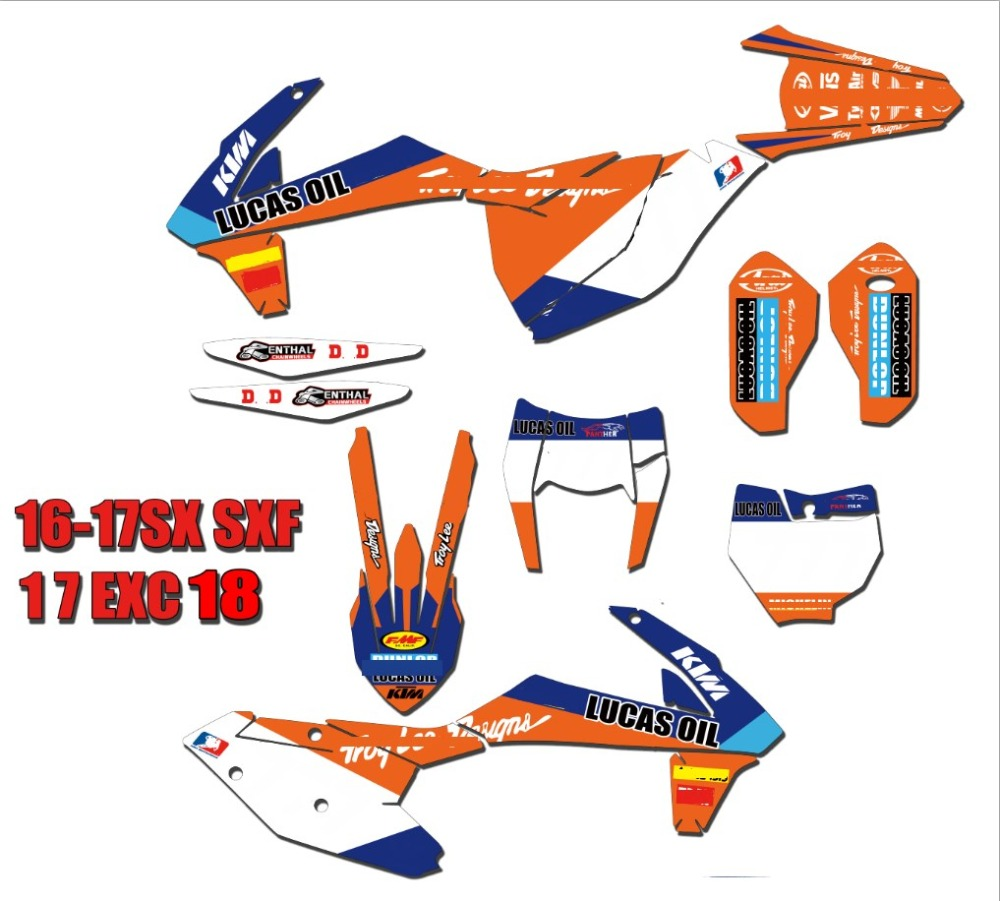 Motorcycle bike Graphics Stickers Background Decals For KTM 2017-2018 EXC/EXCF 250/350/300/450/500 SX SXF XC XCF 2016 2017 2018Motorcycle bike Graphics Stickers Background Decals For KTM 2017-2018 EXC/EXCF 250/350/300/450/500 SX SXF XC XCF 2016 2017 2018