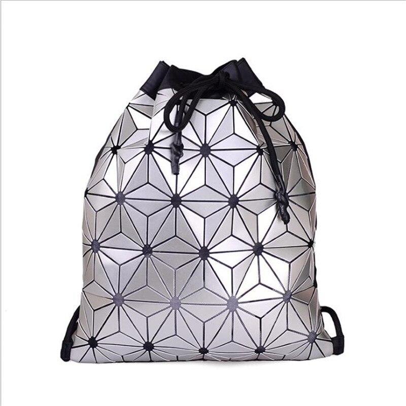 New Bao Backpack Geometric Plaid Female Scool Backpacks for Teenage Girls PU Bagpack Holographic Women Backpacks Bao паяльник bao workers in taiwan pd 372 25mm