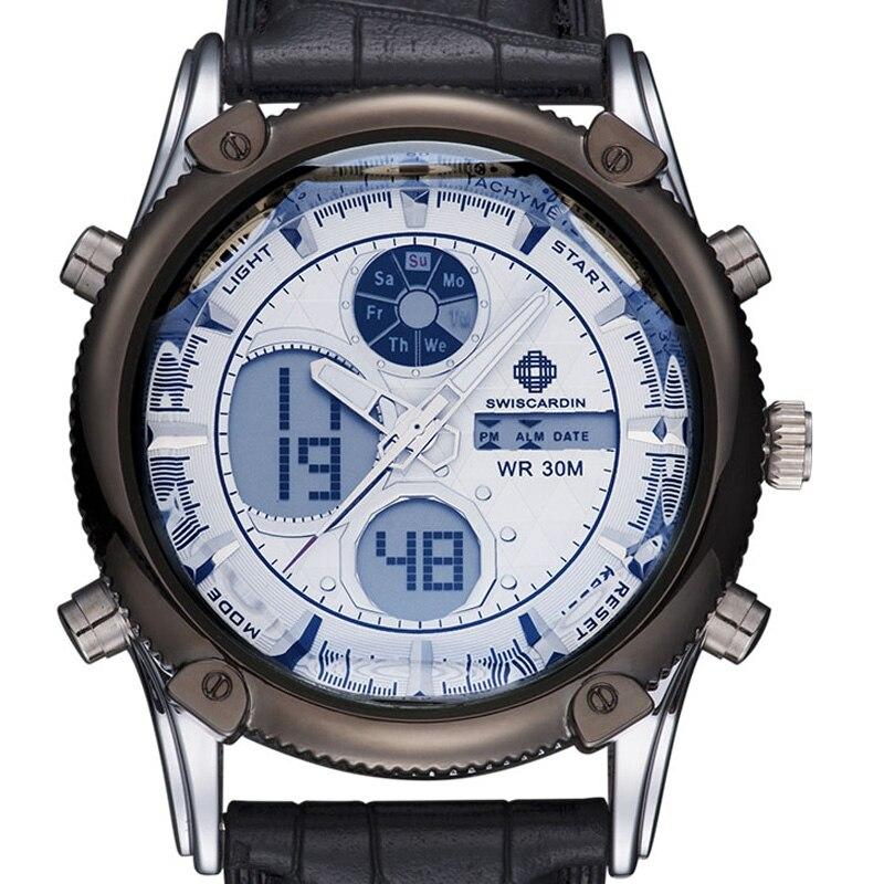 Hommes Sport Montre Électronique Militaire Montre De Luxe Hommes LED Double Affichage Mâle Horloge Marque Poignet Numérique-Montre Relogio Masculino