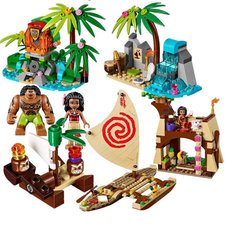 Sermoido Moana Voyage océan restaurer le coeur de Te Fiti ensemble blocs de construction compatibles avec Legoings princesse