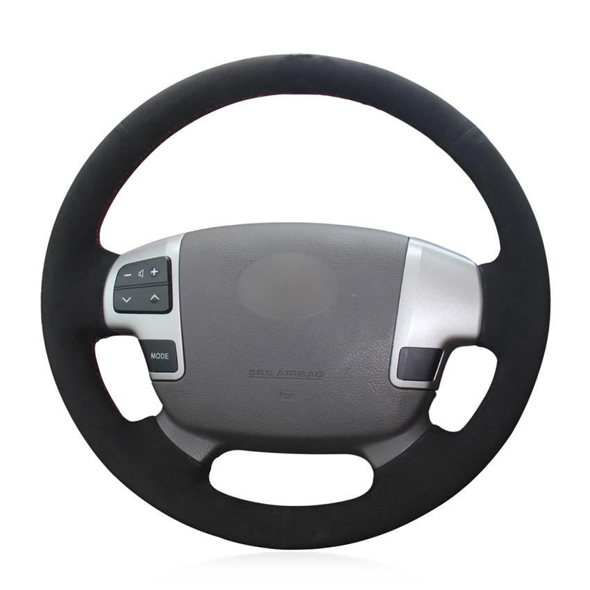 Redelijk Hand-gestikt Diy Zwart Suède Auto Stuurhoes Voor Toyota Land Cruiser 2008-2015 Tundra 2007 -2013 Om Hinder Uit De Weg Te Ruimen En De Dorst Te Lessen